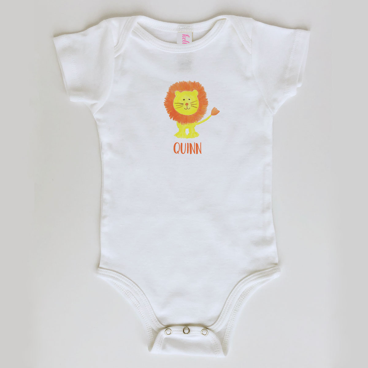 Lion Onesie Personalized for Baby