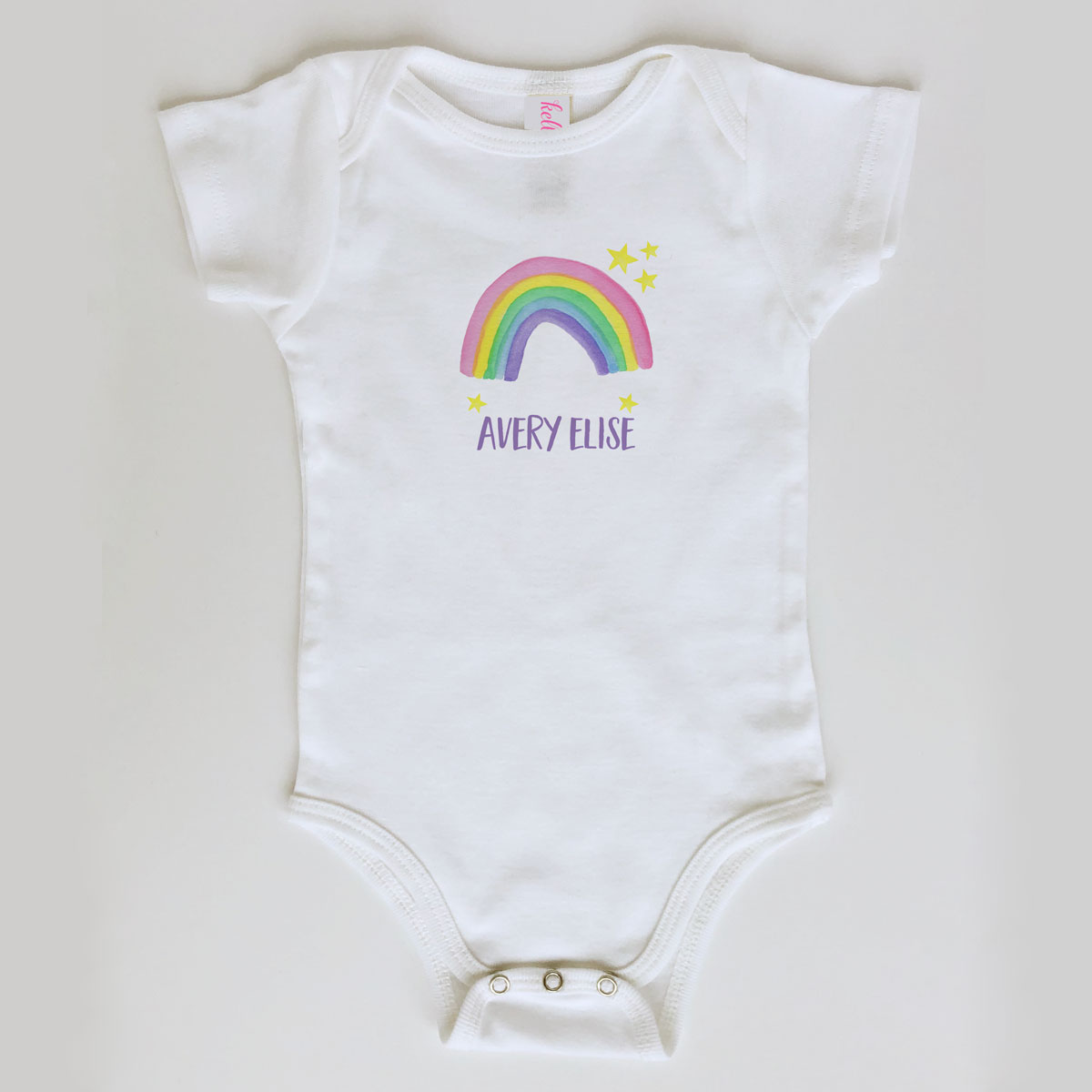Rainbow Onesie Personalized for Baby