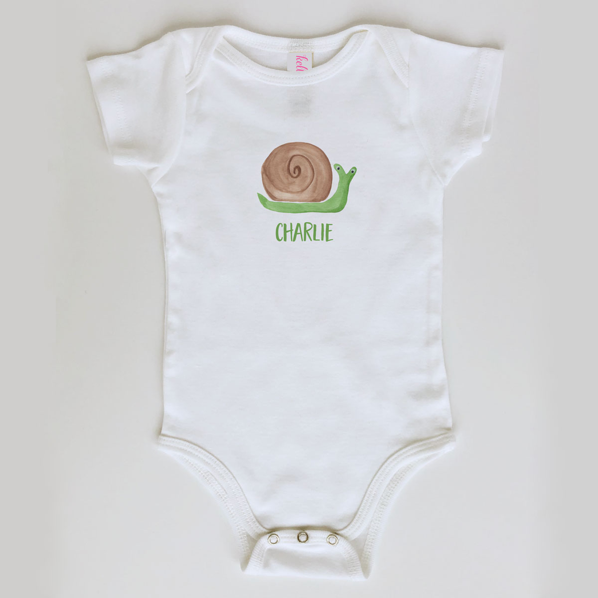 Snail Onesie Personalized for Baby