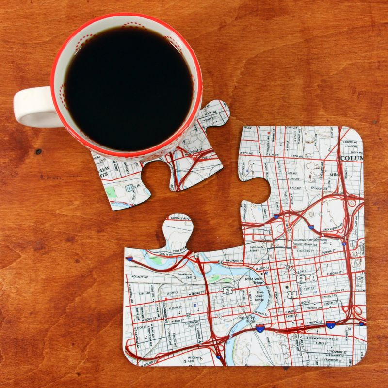 Coaster Map Top View as Placemat