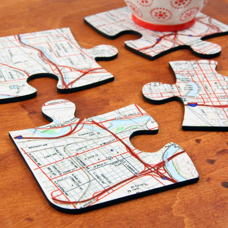 4 Coaster Jigsaw Pieces