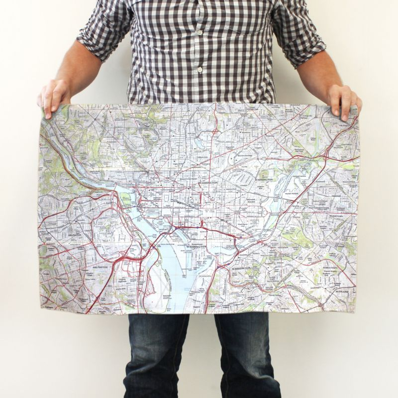 Kitchen Towel Map Size
