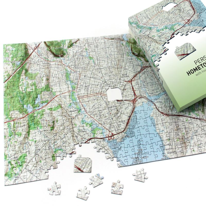 Hometown Jigsaw Puzzle Map