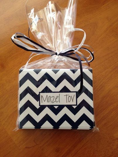Mazel Tov wrapped boy