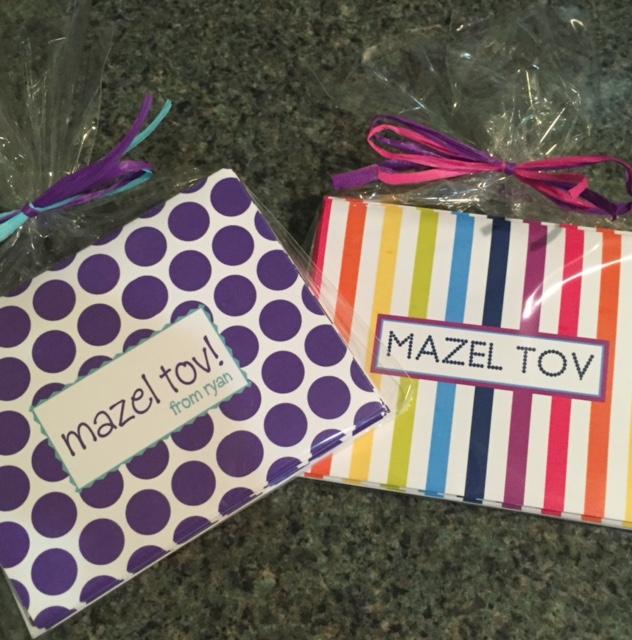 Mazel Tov wrapped girl