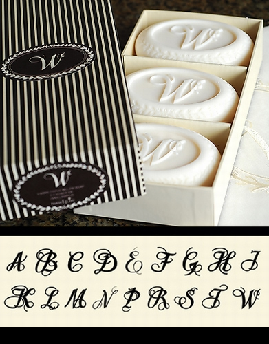 Vanilla Soap with Initial