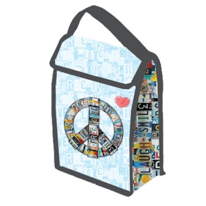 License Plates Lunch Tote