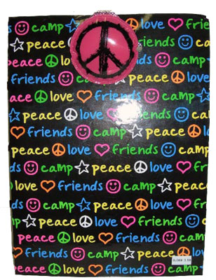 Black Peace Love Camp clipboard
