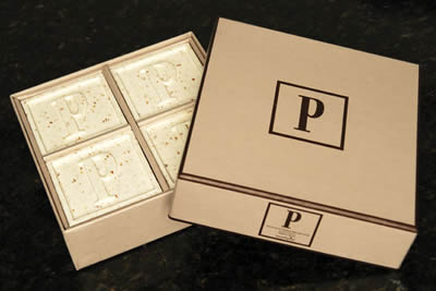 Oatmeal Initial Soaps - Set of 4 boxed