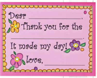 Flower Power Fill in thank you (10/pkg)1 PACKAGES IN STOCK READY TO SHIP