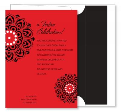 Medallion Red & Black