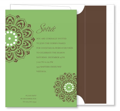 Medallion Green & Chocolate