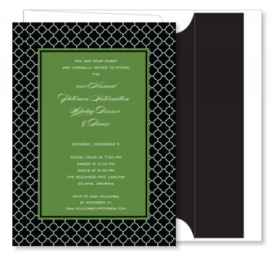 Arabesque Border Black with Green