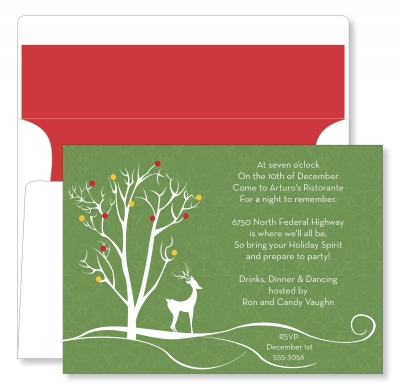 Reindeer and Tree