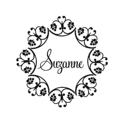 Floral Name Stamp