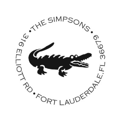 Preppy Alligator Stamp