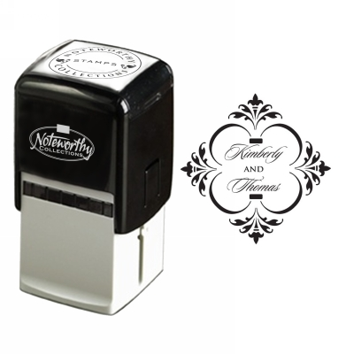 Floral Diamond Wedding Stamp