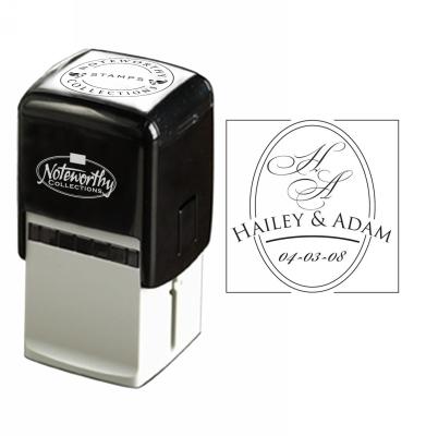 Oval Wedding Stamp