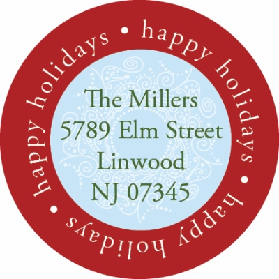 Happy Holidays Label Noteworthy Collections Coordinating Return Address Label