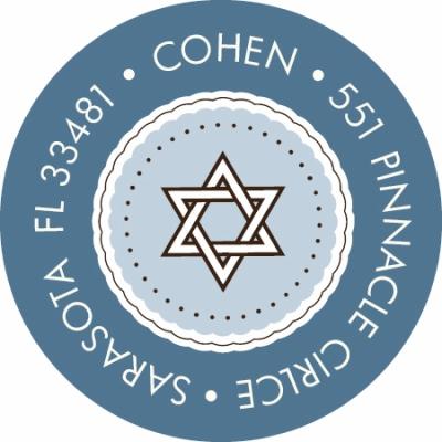 Star of David Medallion Label