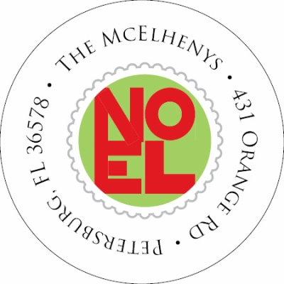 Postmarked Noel Label