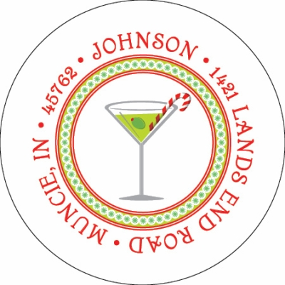 Holiday Martini Label