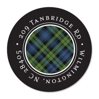 Black Watch Tartan Label