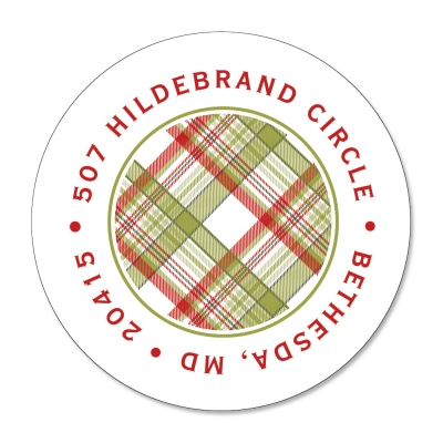 Holiday Plaid Label