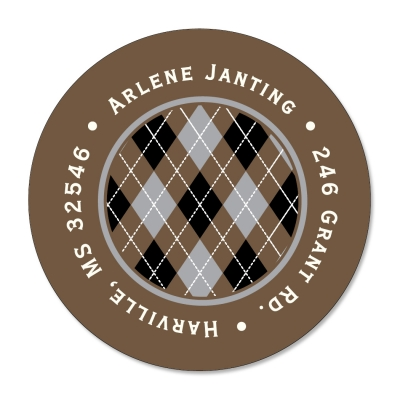 Chocolate Argyle Label