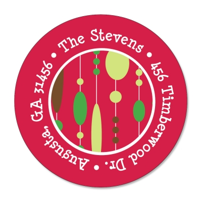 Holiday Beads Cherry Label