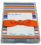 Orange and Blue Stripe Discounted Paper by Noteworthy Collections