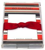 Red and Black Stripe  Discounted Paper by Noteworthy Collections