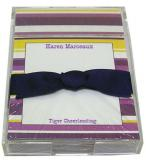 Purple and Gold Stripe Discounted Paper by Noteworthy Collections