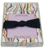 Lavender Fashion Stripe Discounted Paper by Noteworthy Collections