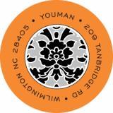 Elegant Halloween Label Noteworthy Collections Coordinating Return Address Label