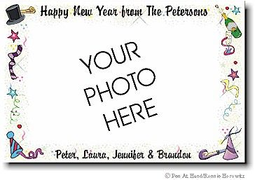 Pen at Hand Holiday Photo Card Discounted Personalized Stationery