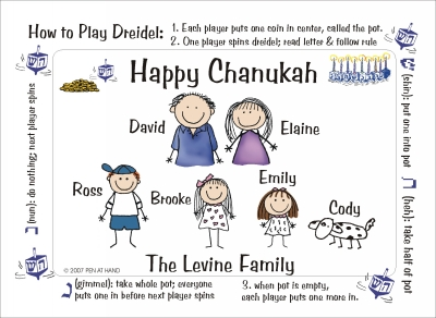 Chanukah Cards Dreidel Rules