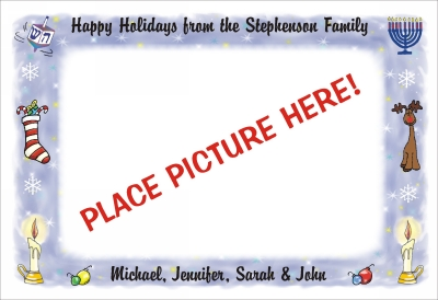 Christmas and Chanukah Photo Cards  Flat 1 by Pen At hand