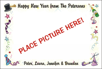 New Years Photo Card by Pen At hand