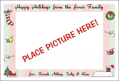 Christmas Photo Cards  Flat by Pen At hand