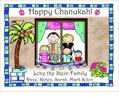 Chanukah Cards 8 Tropical