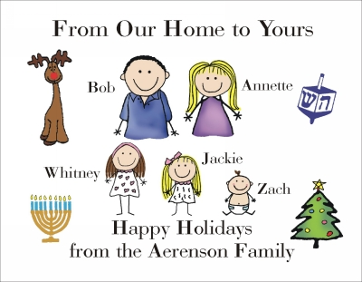 Chanukah and Christmas Cards 1