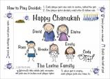 Chanukah Cards Dreidel Rules by Pen At hand