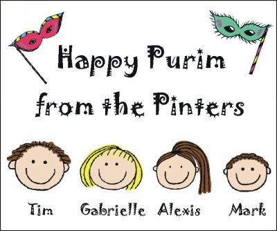 Happy Purim Holiday Stickers