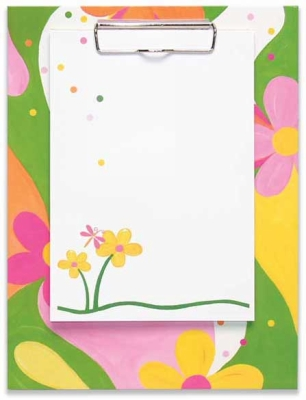 Groovy Flowers Clipboard with Note Sheets by Penny Laine Papers