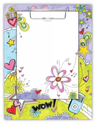 Teen Fun Clipboard with Note Sheets by Penny Laine Papers