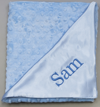 Snuggle Satin Blanket - Blue by Princess Linens
