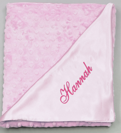 Snuggle Satin Blanket - Pink by Princess Linens