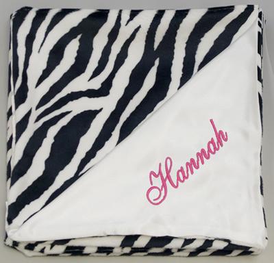 Snuggle +Satin Blanket - Zebra
