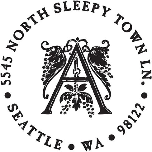 Annabeth Initial Address Stamp by PSA Essentials